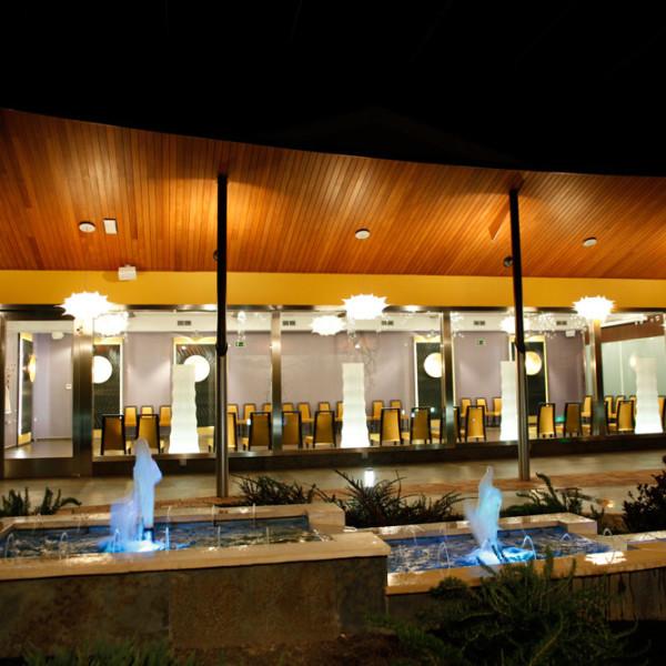 Diseño con Fuentes Exterior Hotel